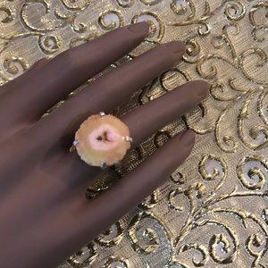 Jewelry - NEW Solar Quartz Druzy Gemstone Ring Sz 6.25
